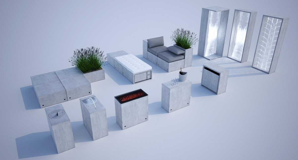 Computer simulation of outdoor furniture
