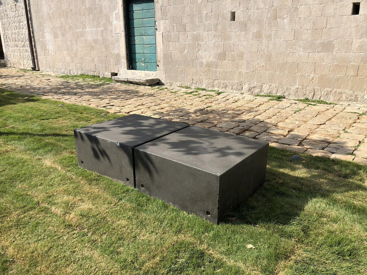 Urban furniture installed on location