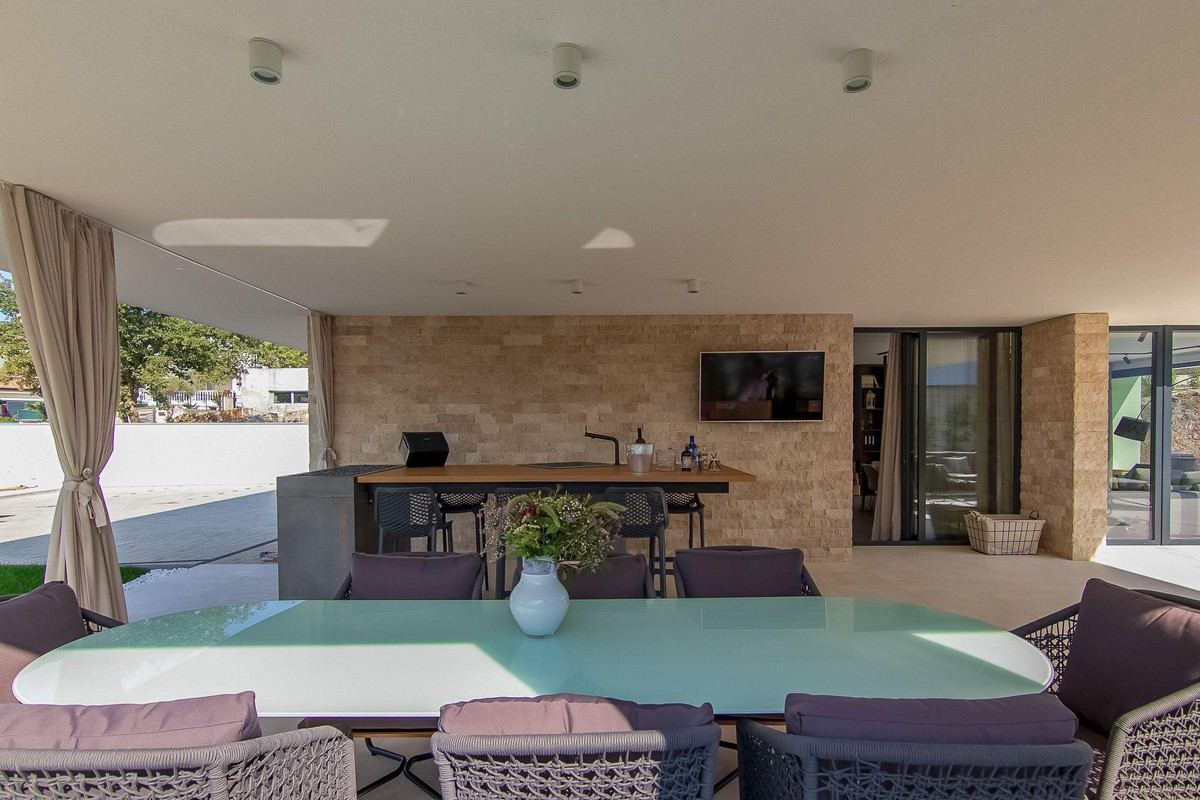 Outdoor concrete kitchen  - PHOTO BY OWNER